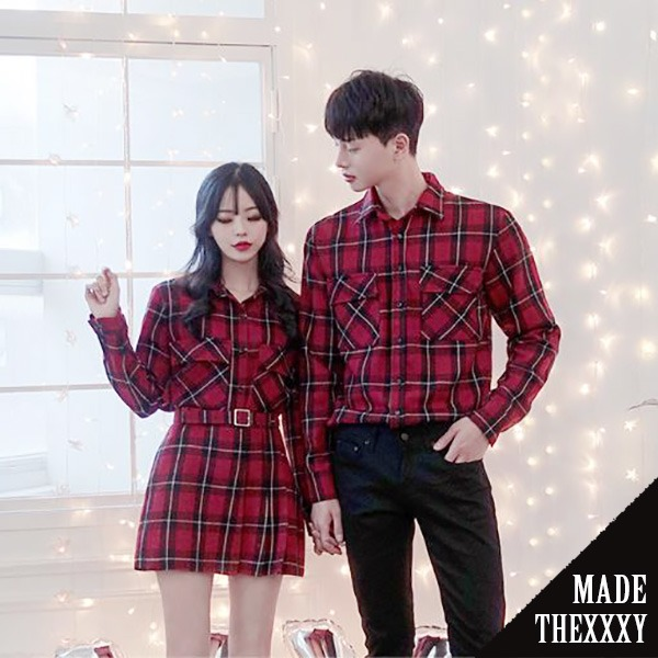 [자체제작] XXXY belt Check Similar (Red) - SET #375