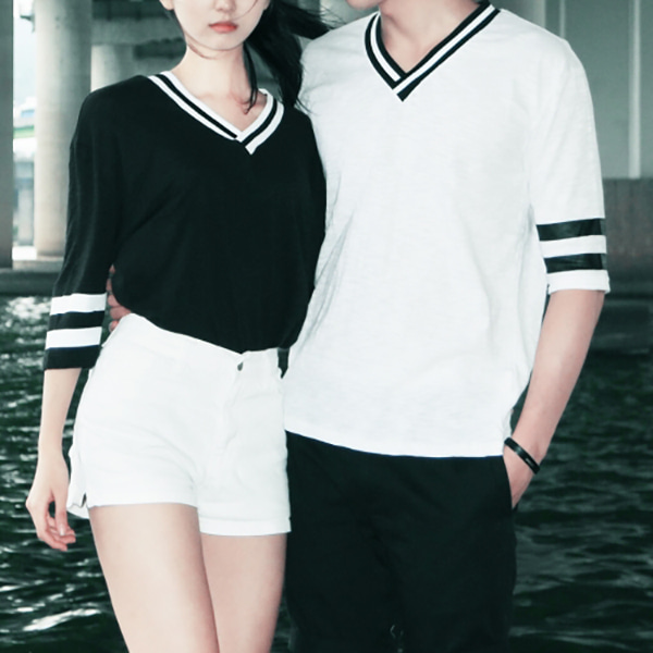 V 배색 couple T - SET #12